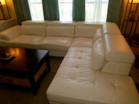 White leather sectional Reston, 20191