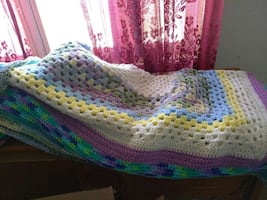 Crocheted throw or baby blanket