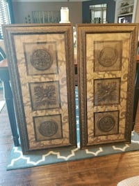 two brown wooden framed wall decors Menifee, 92586