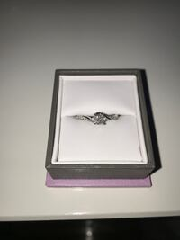 Promise Ring with 1/4 Carat of Diamonds in 10KT White Gold