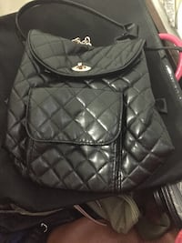 Black leather quilted backpack Hialeah, 33015