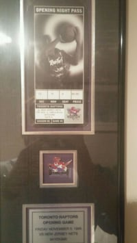 Raptors tickets from opening night in 1995 framed  Mississauga, L4Y 1M5