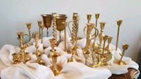 Vintage Mixed Lot of 29 Brass Candlesticks Fishers, 46037