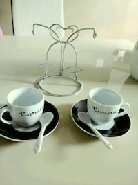 Espresso Cup set with spoons and stand Brampton, L6Y