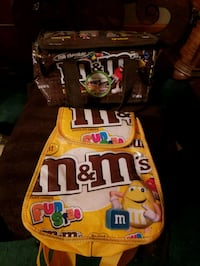 two M&M-themed bags