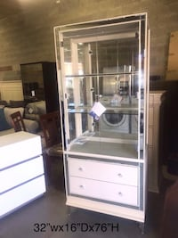 New beautiful display cabinet (offwhite)