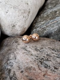 925 Sterling Silver / Rose Gold Plated Stud Earrings! Burlington