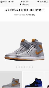 Brand new with tags Nike Retro High Flyknit size 10 Toronto, M1K 5J2