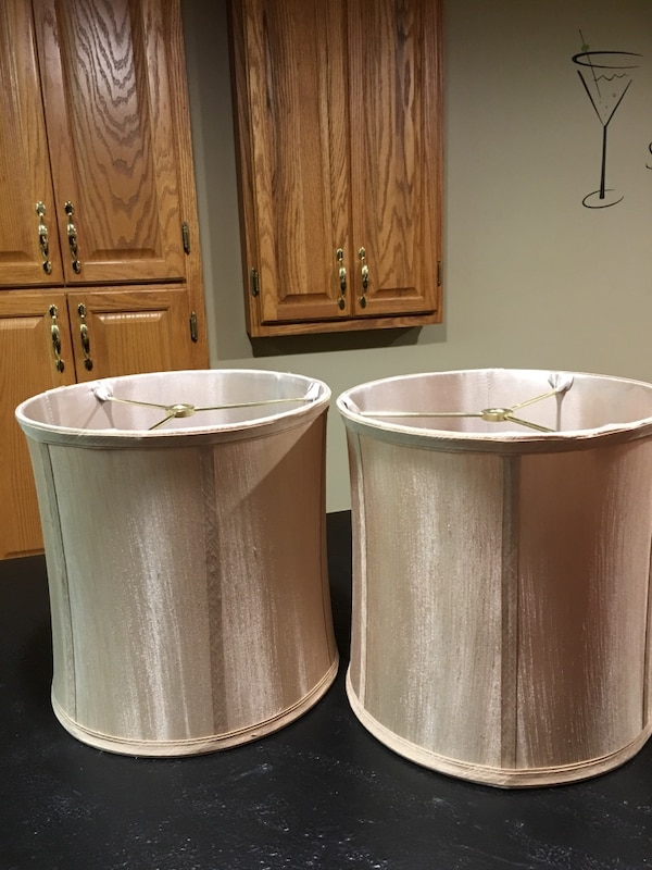 7a14dab1163f Used Pair of taupe lamp shades. 10 inches tall & 10 inches wide. New never  used. They attach to finial style lamps. for sale in Essexville - letgo