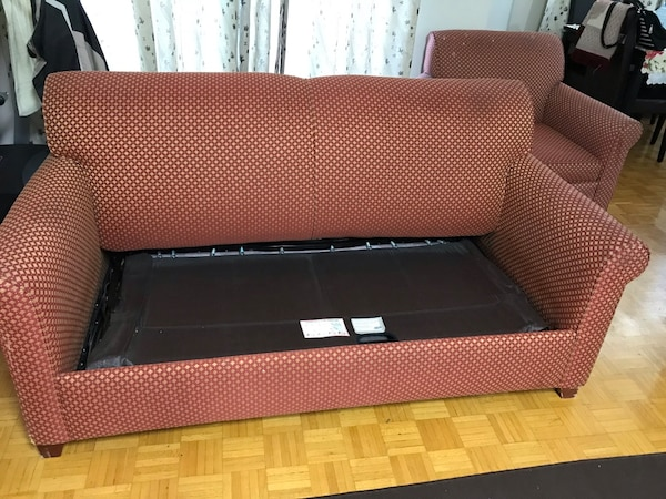 Two set sofa + portable bed in good condition 8fb0c076-bd0f-43dc-9922-e1d65c016995