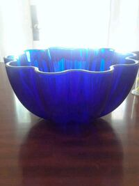 Navy blue glass bowl Potomac, 20854