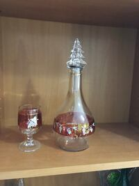 One bottle and one glass for $10. Excellent condition, no chip or crack Hamilton, L9A 1T3