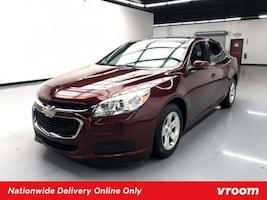 2016 Chevy Chevrolet Malibu Limited Butte Red Metallic sedan