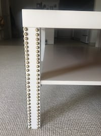 White Gold Nail Studded Coffee Table Gaithersburg, 20878