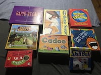 A set of 8 board games