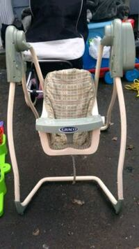 baby's white and gray highchair Surrey, V3R 2Z2