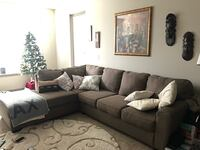 gray fabric sectional sofa with throw pillows Oxon Hill, 20745