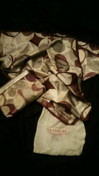 Coach clutch purse with matching scarf