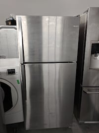 stainless steel top-mount refrigerator null