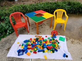 Toddler lego table