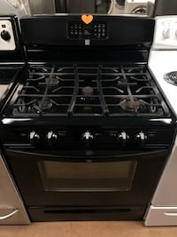 Kenmore Black 5 burner gas stove Woodbridge, 22191