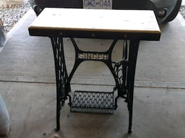 Singer base pub top sofa table or hall table top s