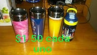 four pink, blue and yellow tumblers Laredo, 78046