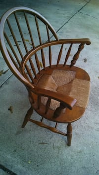 brown wooden windsor rocking chair 2405 mi