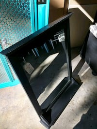 black wooden framed glass mirror East Islip, 11730