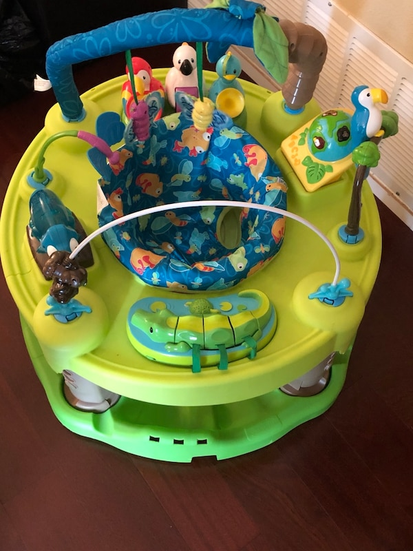 4bb8930dd Used Evenflo ExerSaucer Triple Fun Entertainer Life In The Amazon ...