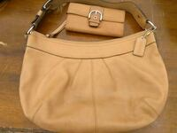 Authentic Large Leather Coach Hobo & Wallet Summerville