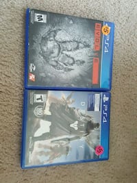 Ps4 evolve and Destiny console game Beech Grove