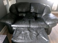 Black leather couch + ottoman Denver, 80219