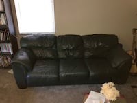 Leather Couch Forest Green  Columbus, 43224