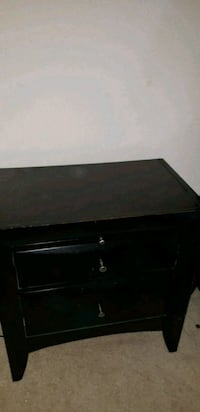 Black 2 drawer nightstand with pull out tray Tampa, 33617