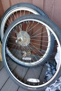 Used bicycle wheels