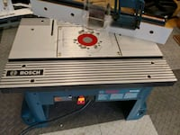 Bosch router table. Used once. Falls Church, 22042