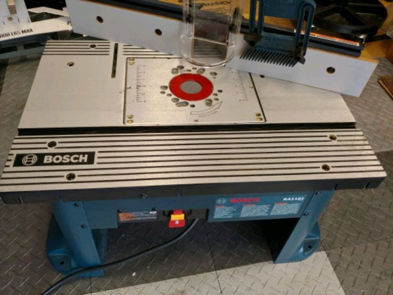 Bosch router table. Used once,  great condition.  Costs 230 on amazon 5bef3938-53c9-4673-bce8-ce1997f7bc34