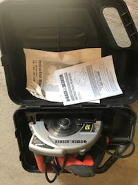 black and red Black and Decker circular saw Clarksville