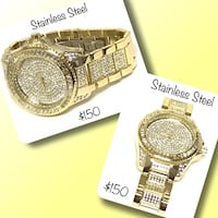 Heavy iced out stainless steel watch Winnipeg, R2M 2T7