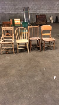 Wooden chairs 5.00 each Fort Erie, L2A 2L2