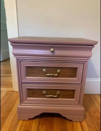 Vintage two-tone nightstand