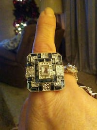 Sterling Silver with Sapphires  Edmond, 73013