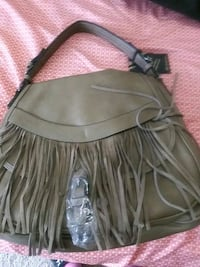 black leather fringe crossbody bag Washington, 20020