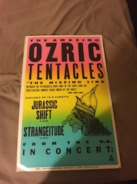 Ozric poster 1993 heavy card stock