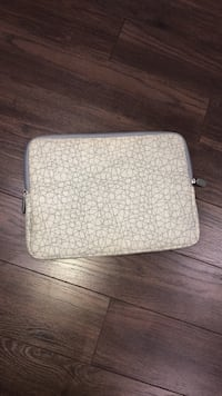 gray and white leather wristlet Toronto