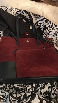red and black leather tote bag Norfolk, 23518