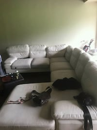 White sectional  New Carrollton