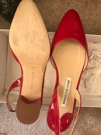 Pair of red leather pointed-toe pumps Hyattsville, 20783