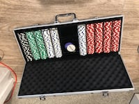 Poker chip with the case Milpitas, 95035
